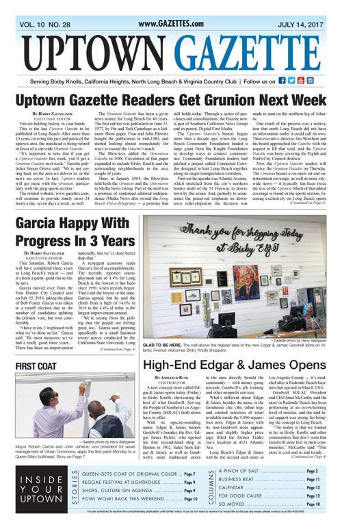 Uptown Gazette  |  July 14, 2017