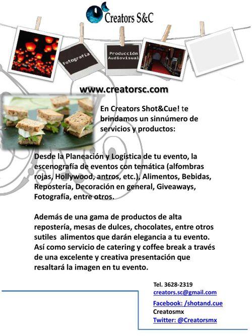 Catering y alimentos Creators I