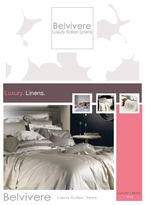 Luxury Sheets Catalog Spring Summer 012