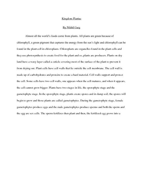 Kingdom Presentation: Plantae