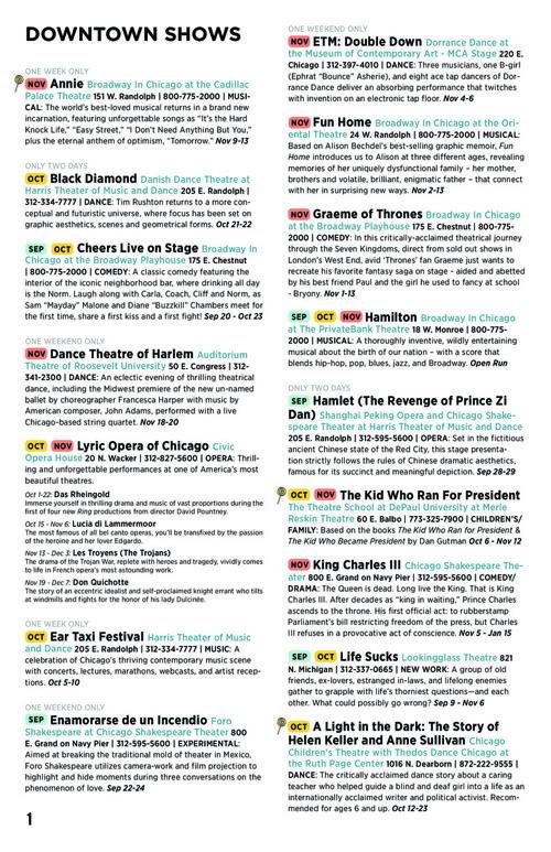 Chicago Theatre Guide: Fall 2016