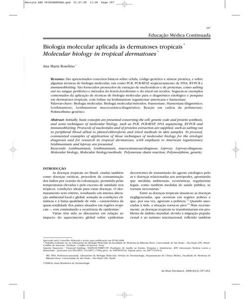 1 artigo biomol dermatoses