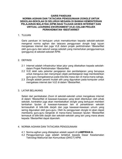 Garis Panduan Dongle (1BestariNet)