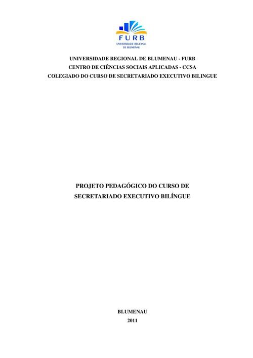 PPC DO CURSO DE SECRETARIADO EXECUTIVO BELINGUI