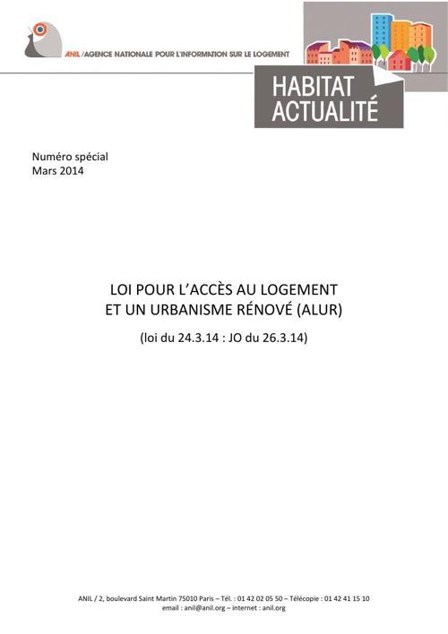 Loi ALUR - Document ANIL