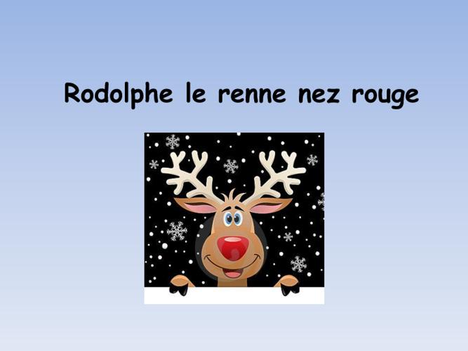 Rodolphe le renne nez rouge