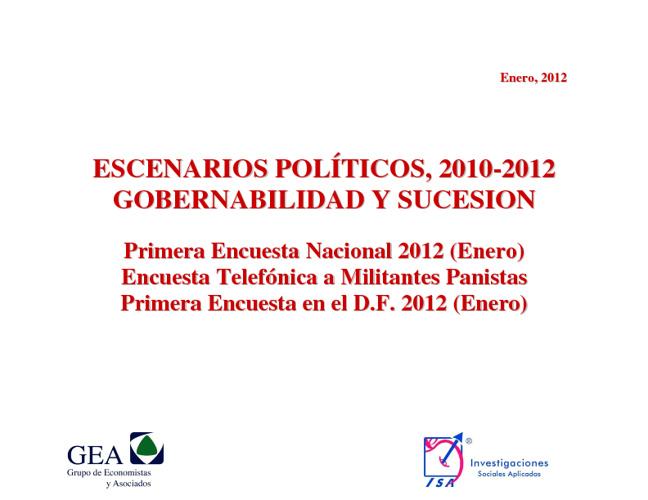 Encuesta GEA ESCENARIOS 2010-2012