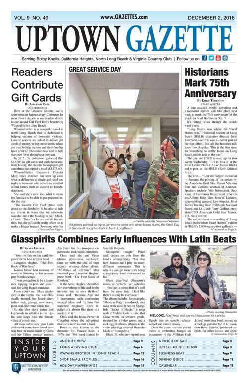 Uptown Gazette  |  December 2, 2016