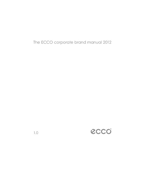 THE ECCO CORPORATE BRAND MANUAL 2012 v1.0