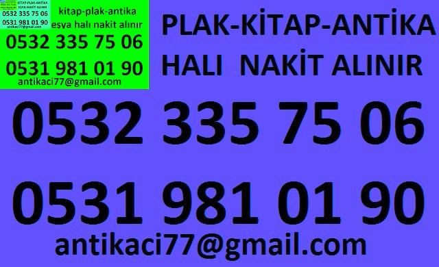 0531 981 01 90 EMİNÖNÜ YENİKAPI antika-eşya-plak-kitap-el yazmas