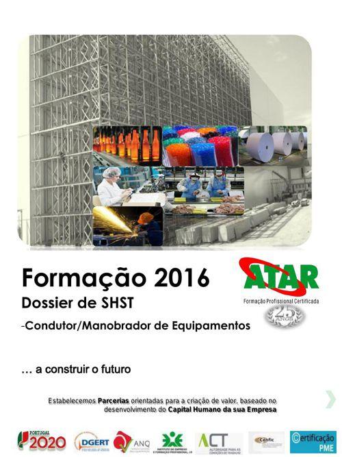 Catálogo Formação 1 º sem 2016 dossier shst_condutor_equipamento