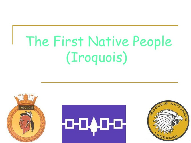 THE FIRST NATIVE PEOPLE