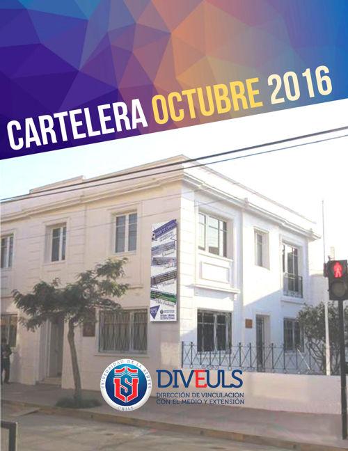 CARTELERA OCTUBRE 2016