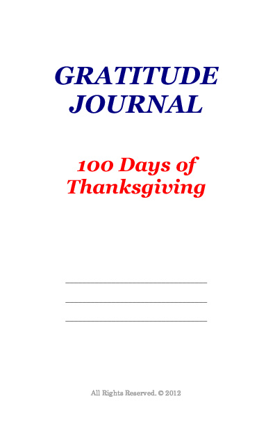 Gratitude Journal 100 (Preview)