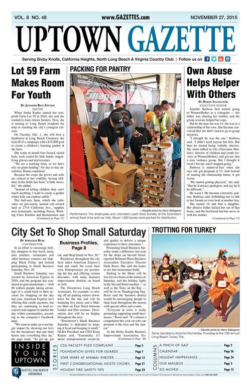 Uptown Gazette  |  November 27, 2015