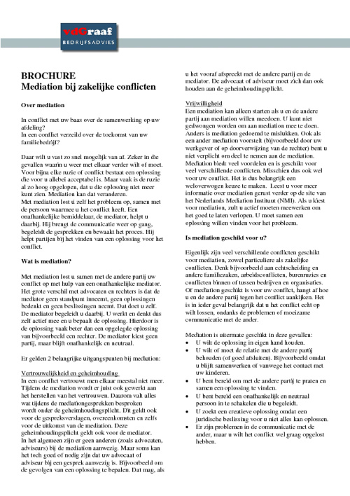 Brochure Mediation
