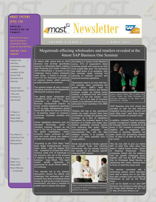 4most Newsletter April 2015