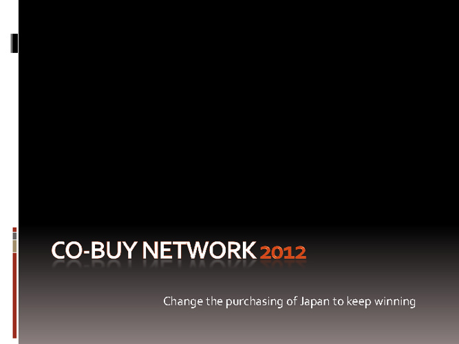 What is Co-Buy Network Presentation 2012