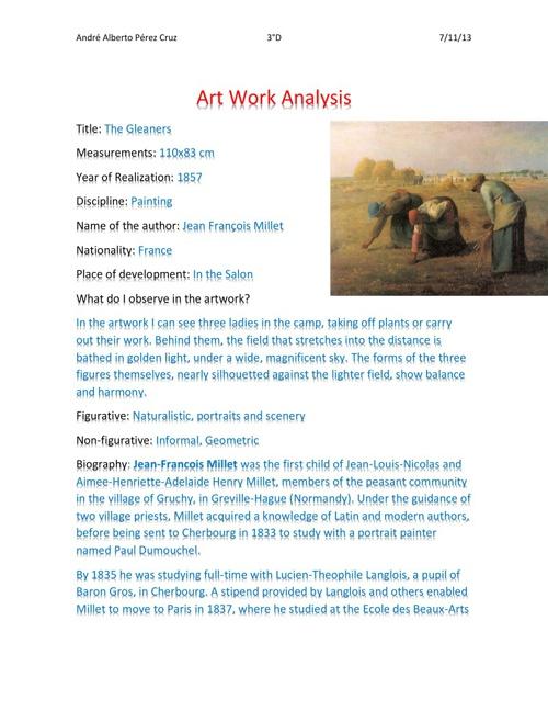 Art Work Analysis