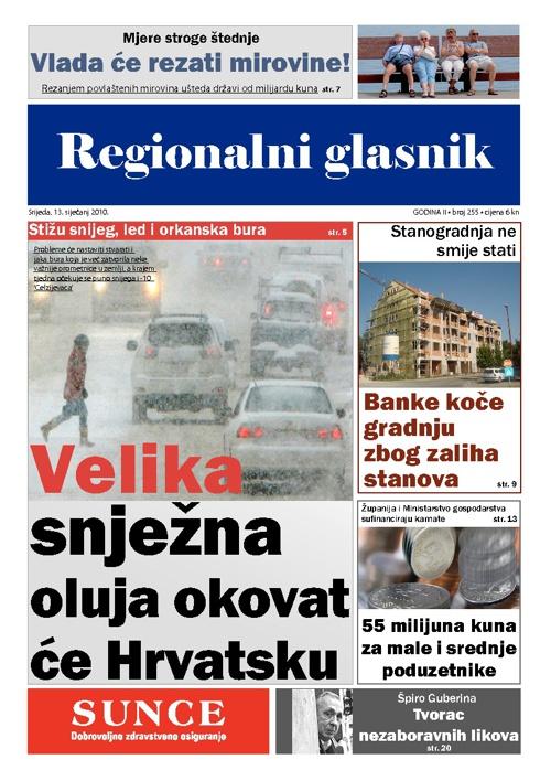 Prijelom novina - Regionalni glasnik
