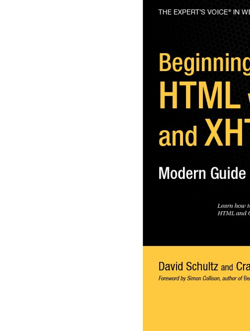 Beginning HTML With CSS and XHTML - Modern Guide and Reference