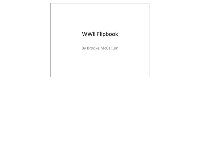 American History WW2 Flipbook Brooke McCallum