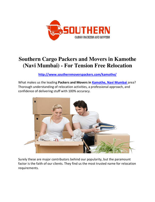 Southern Cargo Packers and Movers in Kamothe (Navi Mumbai) - For