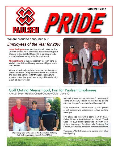 Paulsen Pride - Summer 2017