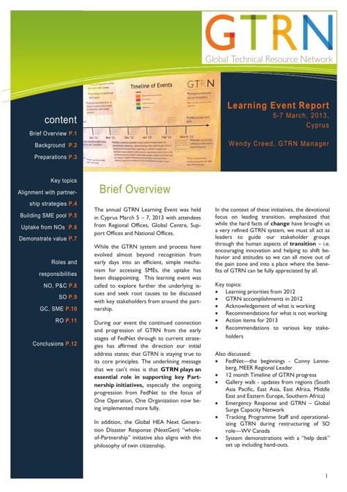 GTRN event report