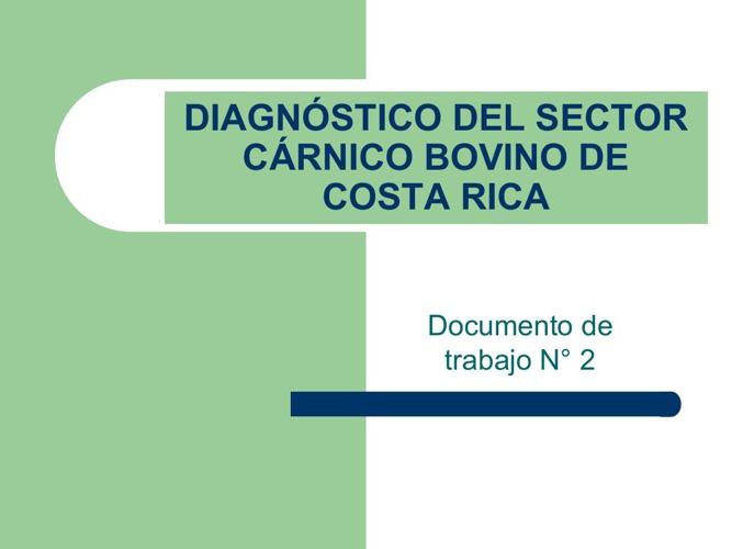 Diagnostico del sector carnico bovino de Costa Rica