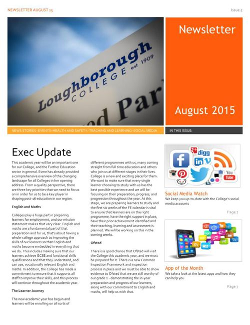 Staff Newsletter August