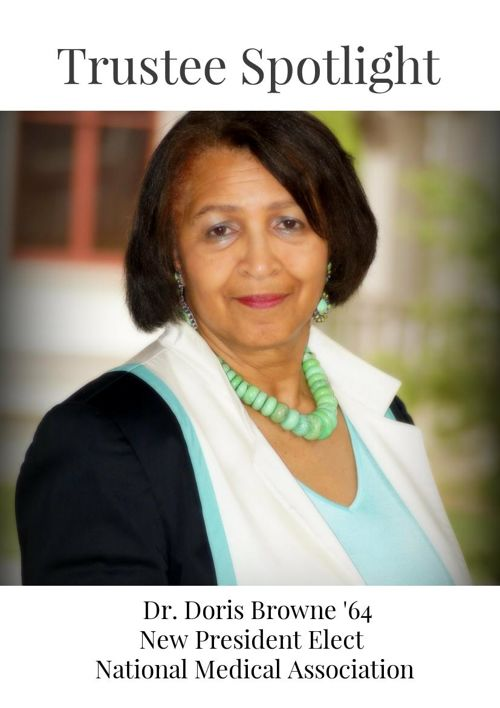 Dr. Doris Browne '64 New President Elect  National Medical