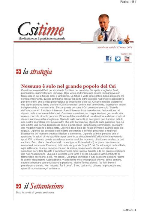 csi time _17 marzo 2014