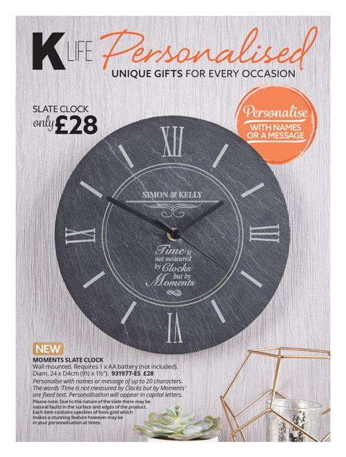 K LIFE Personalise Catalogue Spring 2018