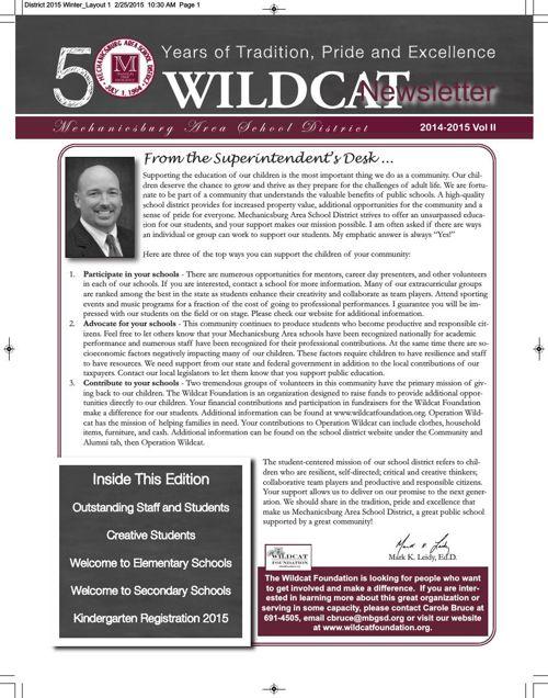 District 2015 Winter Newsletter