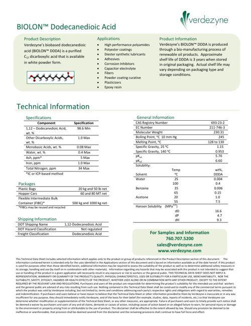 BIOLON™ Dodecanedioic Acid