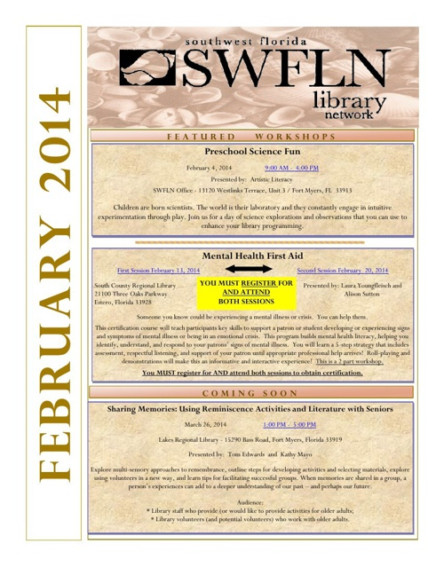 SWFLN February 2014 CE News