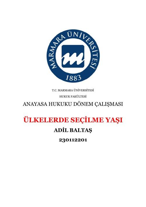 A. BALTAŞ & D. ÇAVUŞOĞLU & E. ERDEMİR