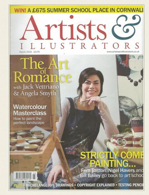 Mark Robinson Golf Art - Magazine article. March 2010.