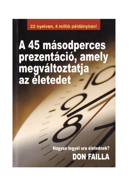 A 45 másodperces prezentáció