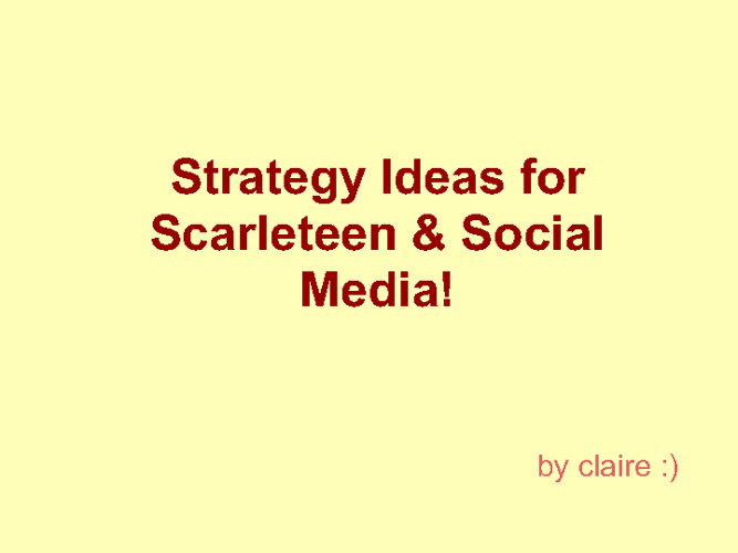 Social Media for Scarleteen!