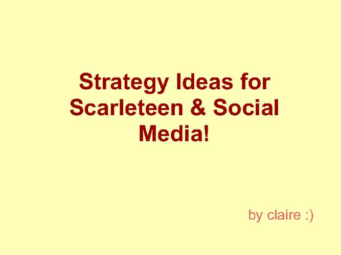 Social Media for Scarleteen!