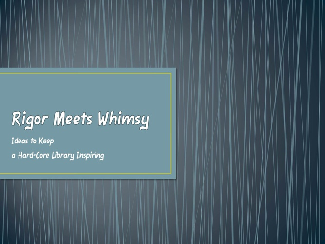 Rigor Meets Whimsy - REAL 2.0