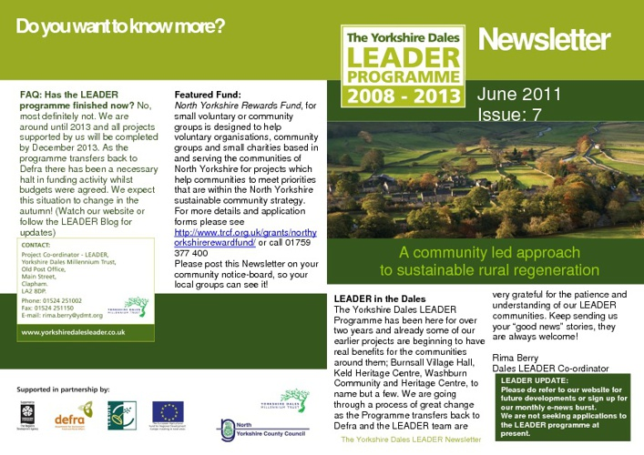Yorkshire Dales LEADER Newsletter Issue 7