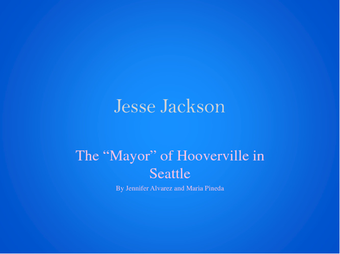 Jesse Jackson and The Hooverville