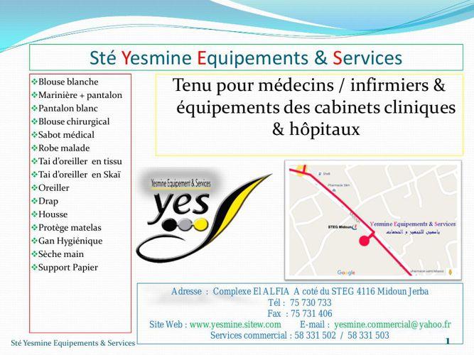 Copy of Sté Yesmine Equipement & Services