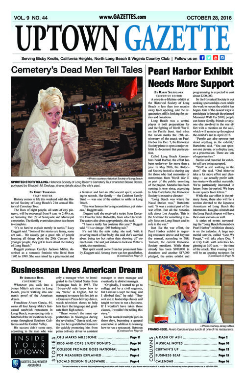 Uptown Gazette  |  October 28, 2016