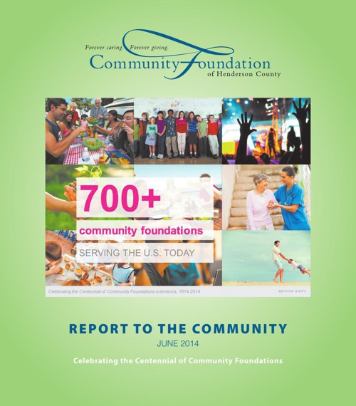 Report to the Community 2014 - Community Foundation of Henderson