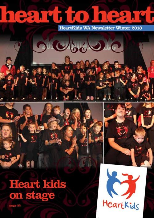 HeartKids WA Winter 2013 Newsletter