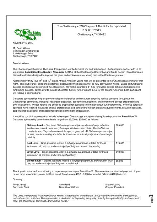 Links Volkswagen Proposal